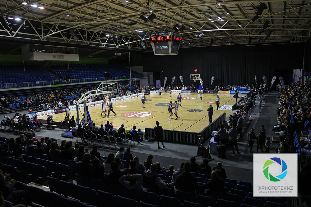 General view during the NBL match between the Franklin Bulls and the Auckland Huskies, National Basketball League held at Trusts Stadium, Auckland, New Zealand. 28 June 2020. Copyright Photo: Shane Wenzlick / www.photosport.nz