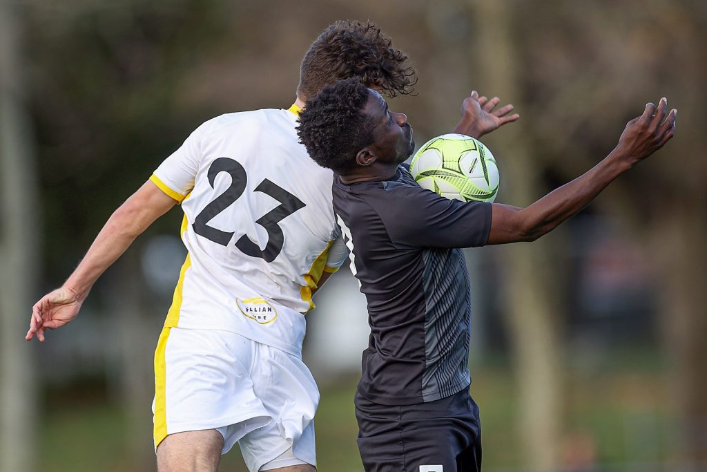 NRFL, Northern Region Football League Premier Division, Manukau United v Eastern Suburbs, Centre Park, Auckland, Saturday 6th June 2020. Photo: Shane Wenzlick / www.phototek.nz