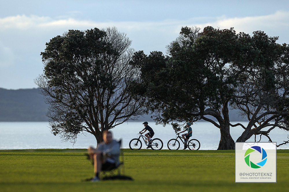 Te Puru Park sits on a Picturesque backdrop. NRFL, Northern Region Football League Division Two, Beachlands Maraetai v Northland FC, Te Puru Park Auckland, Saturday 20th June 2020. Photo: Shane Wenzlick / www.phototek.nz