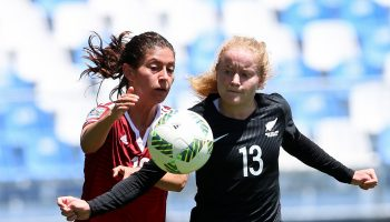 New Zealand's Paige Satchell in action